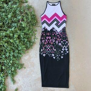 Ted Baker Floral Geometric Sheath Midi Dress